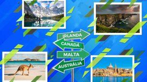 Concorra a bolsas de estudos no Canadá, Austrália, Irlanda e Malta