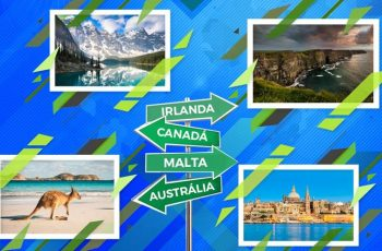 Concorra a bolsas de estudos para Canadá, Austrália, Irlanda e Malta